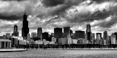 Photograph - Cloudy Day Chicago - 2 by Ely Arsha