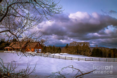 Cloudy Day In Vermont Art Print