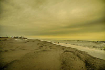 Sepia Day Digital Art - Cloudy Day In Wildwood by Bill Cannon