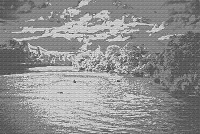 Digital Art - Cloudy Day On The Sacramento River Sketch by Joyce Dickens