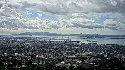 Photograph - Cloudy Day Over The Bay by Lennie Green