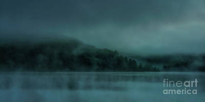 2 Solitudes Photograph - Cloudy Daybreak At The Lake by Thomas R Fletcher