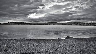 Photograph - Cloudy East Bay Hills From The Bay by Lennie Green
