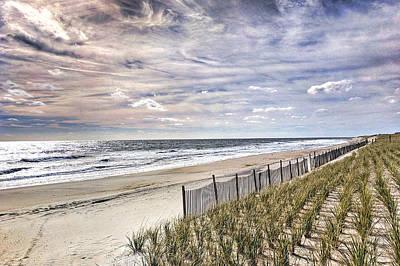 Photograph - Cloudy Fence by Eric Schaeffer