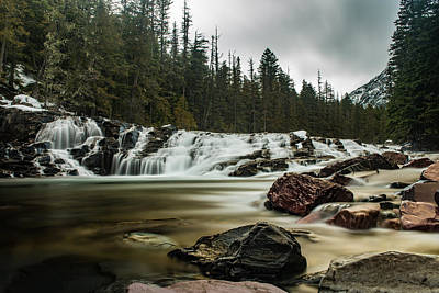 Photograph - Cloudy Flow, Glacier National Park  by Greg Wyatt