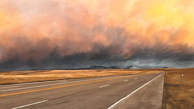 Painting - Cloudy Highway by Susan Kinney