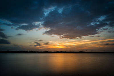Photograph - Cloudy Lake Sunset by Todd Aaron