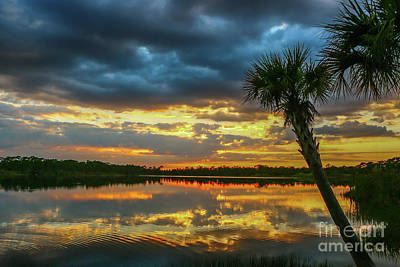 Photograph - Cloudy Lake Sunset by Tom Claud