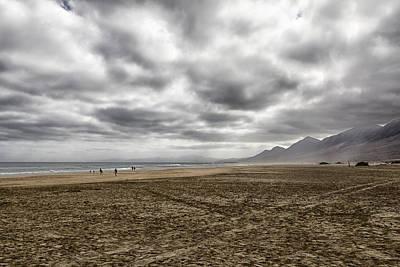 Photograph - Cloudy Landscape In Fuerteventura by Pietro Ebner