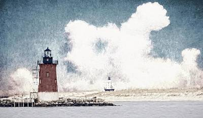 Photograph - Cloudy Lighthouses by Alice Gipson