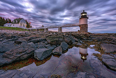 Photograph - Cloudy Morning At Marshall Point by Rick Berk