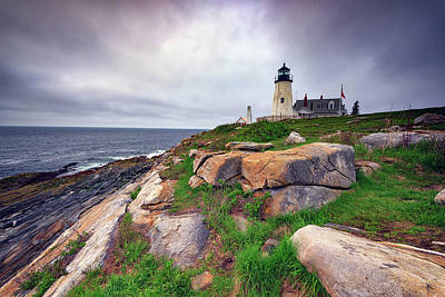 Photograph - Cloudy Morning At Pemaquid Point by Rick Berk