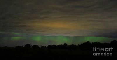 Photograph - Cloudy Northern Lights by Erick Schmidt