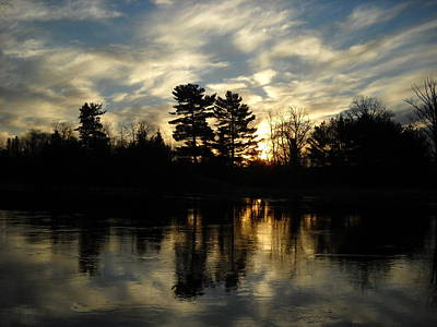 Photograph - Cloudy November Sunrise Reflection by Kent Lorentzen