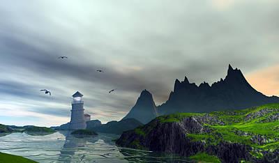 Travel - Cloudy ocean scene by John Junek