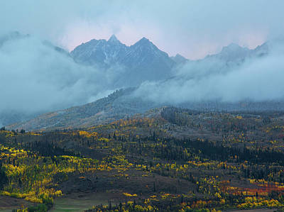 Art Print featuring the photograph Cloudy Peaks by Aaron Spong