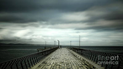 Photograph - Cloudy Pier by Perry Webster