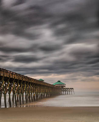 Photograph - Cloudy Pier by Reid Northrup
