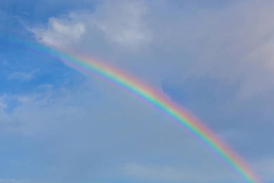 Photograph - Cloudy Rainbow by SR Green