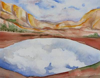 Cloudy Reflections Art Print by Kathy Mitchell