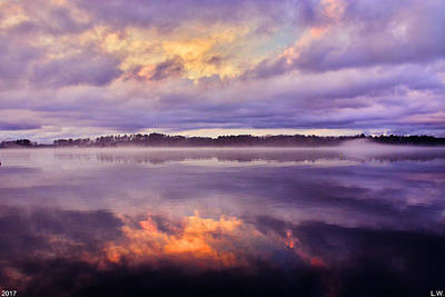 Photograph - Cloudy Reflections by Lisa Wooten