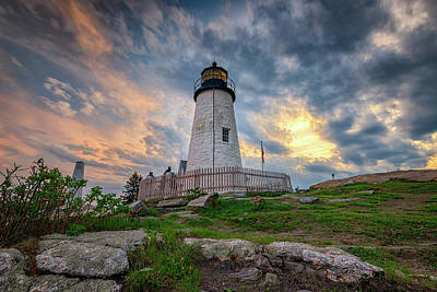 Photograph - Cloudy Skies At Pemaquid Point by Rick Berk