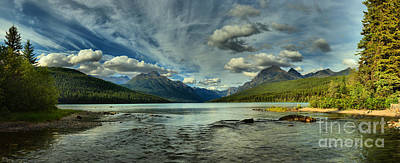 Photograph - Cloudy Skies Over Bowman Lake by Adam Jewell