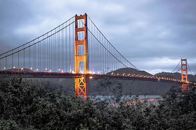 Photograph - Cloudy Skies Over The Golden Gate Bridge - San Francisco California  by Gregory Ballos