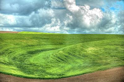 Photograph - Cloudy Sky Fields by Jerry Sodorff