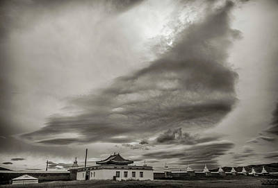 Buddhist Photograph - Cloudy Sky, Karakorum, 2016 by Hitendra SINKAR