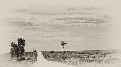 Photograph - Cloudy Skys And Dirt Roads by Wilma  Birdwell