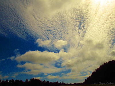 Photograph - Cloudy Skyscape by Joyce Dickens