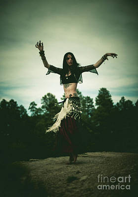 Photograph - Cloudy Spin - Belly Dance by Scott Sawyer