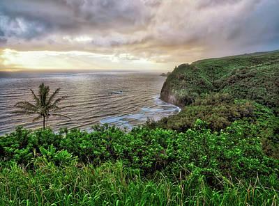Wall Art - Photograph - Cloudy Sunrise At The Pololu Overlook, Hawaii by Martin Belan