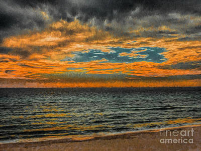 Photograph - Cloudy Sunrise by Dave Bosse