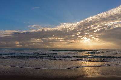 Photograph - Cloudy Sunrise In The Mediterranean by Vicen Photography