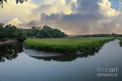 Photograph - Cloudy Sunrise Over Remley's Point by Dale Powell
