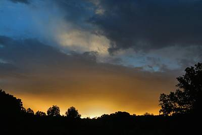 Photograph - Cloudy Sunset 2 by Kathryn Meyer