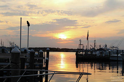Photograph - Cloudy Sunset At The Marina by Robert Banach