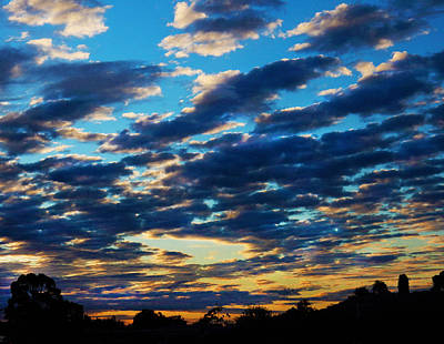Photograph - Cloudy Sunset by Mark Blauhoefer
