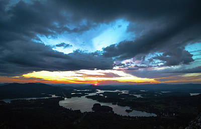 Photograph - Cloudy Sunset by Mike Dunn