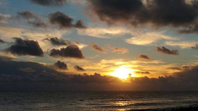 Photograph - Cloudy Sunset Over The Sea 2 by John Topman