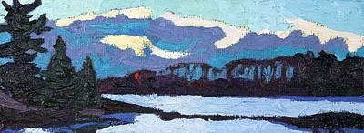 Cloudy Sunset Original by Phil Chadwick