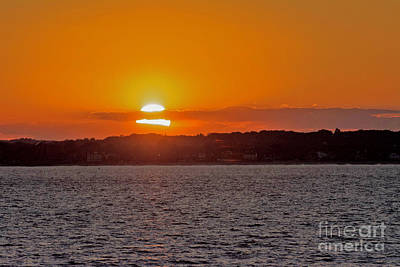 Photograph - Cloudy Sunset by Ruth H Curtis