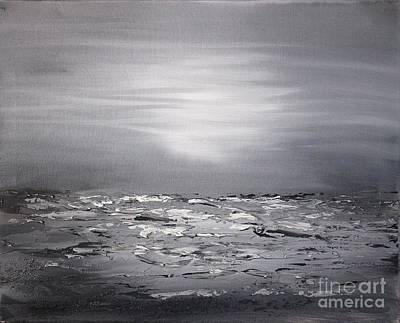 Painting - Cloudy Waves 10 by Preethi Mathialagan