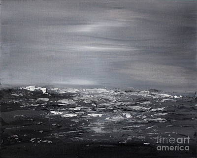 Painting - Cloudy Waves 11 by Preethi Mathialagan