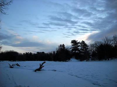 Winter Photograph - Cloudy Winter Dawn by Kent Lorentzen