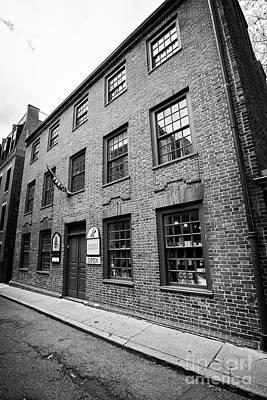 Chocolate Shop Photograph - clough house captain jacksons historic chocolate shop Boston USA by Joe Fox