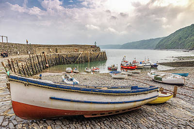 Photograph - Clovelly Boats by Framing Places