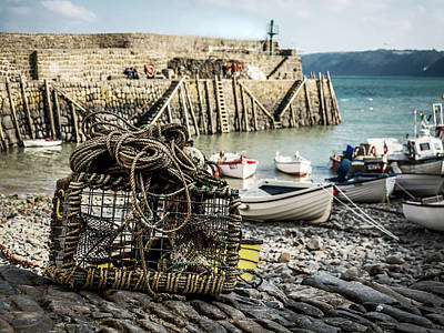 Clovelly Crab Trap Art Print